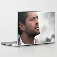 castiel Laptop & iPad Skins featuring Castiel by LindaMarieAnson