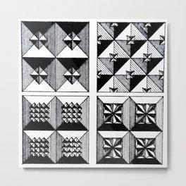 Engraved Patterns Metal Print