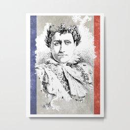 Napoleon Bonaparte French Flag Metal Print