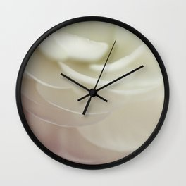 With petals soft as air Wall Clock