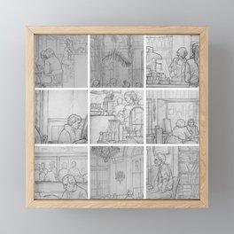 Cafe sketches, part one by David A Sutton. sketchbookexplorer.com Framed Mini Art Print