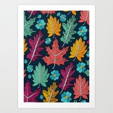 Last leaves of autumn Art Print