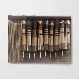 Umbrellas at a ryokan Metal Print