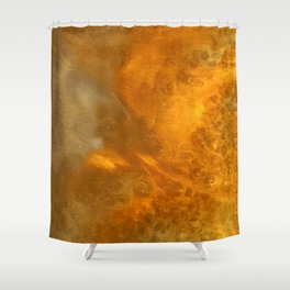 Aurora Borealis: Northern Lights Abstract Design Shower Curtain