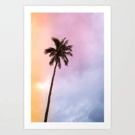 Vintage Tropical Palm Tree Art Print