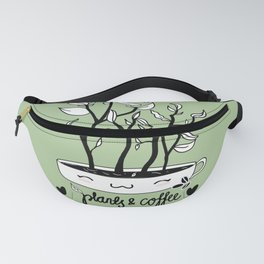 Plants and Coffee Fanny Pack