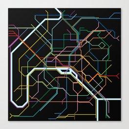 Paris Subway Map Canvas Print
