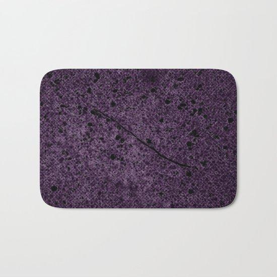 Dark Purple Abstract Bath Mat