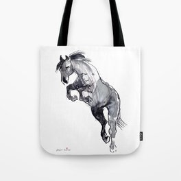 Horse (Jump) Tote Bag