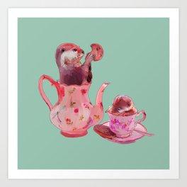 Otter Tea and Biscuits Kunstdrucke