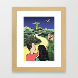 Free Weed and Snacks Framed Art Print