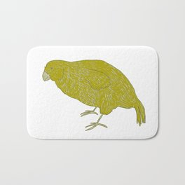Kakapo Says Hello! Bath Mat