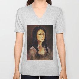 elementary: portrait of joan watson Unisex V-Neck