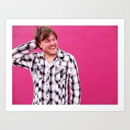 Brock Wilbur September Shoot Pink Art Print