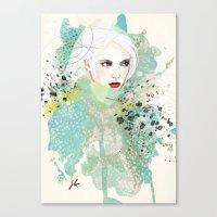 fashion illustration Canvas Prints featuring FASHION ILLUSTRATION 10 by Justyna Kucharska