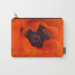 Red Poppy Rich Petals Multiplication Effect Carry-All Pouch