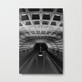 Into the Abyss: Foggy Bottom Metro Metal Print