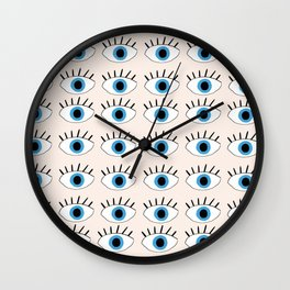Blue evil eye Wall Clock
