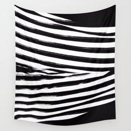 Black & White Stripes Wall Tapestry