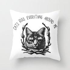 C.R.E.A.M. (In a saucer, kthxbai) Throw Pillow