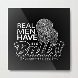 """Real Men """"Tote Bag"""" Edition Metal Print"""