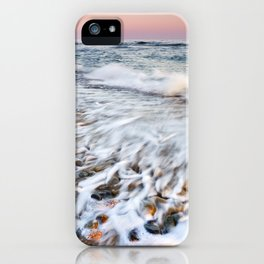 Waves At The Beach. Marbella. At sunset iPhone Case
