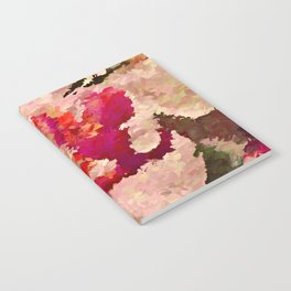 Red and White Orchid Abstract Notebook