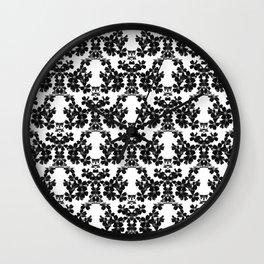 primrose bw pattern Wall Clock