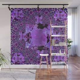 Amethyst Purple Square Gems February Birthstones Wall Mural