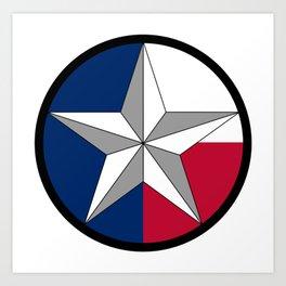 Texas Lone Star Art Print