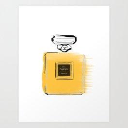 Orange perfume #4 Art Print