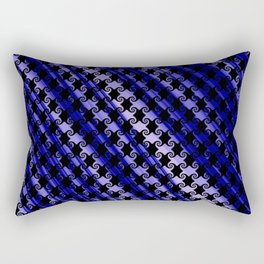 Blue Swirly Pattern with Creases Rectangular Pillow