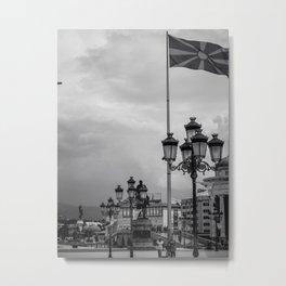 Macedonian Flag Metal Print