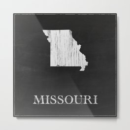 Missouri State Map Chalk Drawing Metal Print