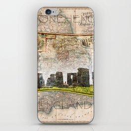 Stonehenge Art Map iPhone Skin