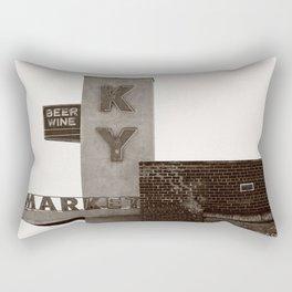 Vintage Neon Sign - KY Market - Tucson Arizona Rectangular Pillow