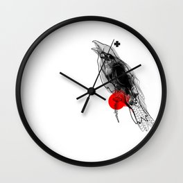 crow_inside Wall Clock