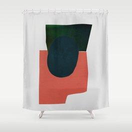 minimalist collage 05 Shower Curtain