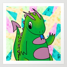 Little Dragon Art Print