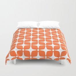 Mid Century Modern Star Pattern Orange 2 Duvet Cover