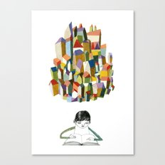 read a city Canvas Print