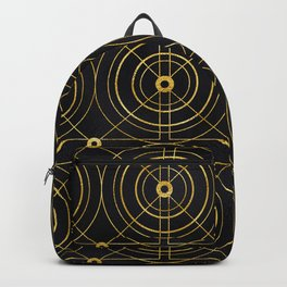 Gold and Black Art Deco: Sipping Morning Mimosas Backpack