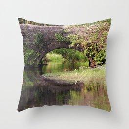 Bridge over Bentley Brook Throw Pillow