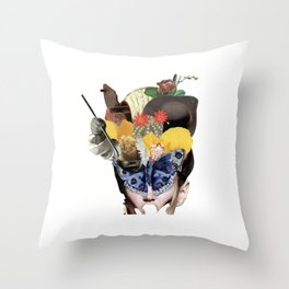 Miss Buterfly Throw Pillow