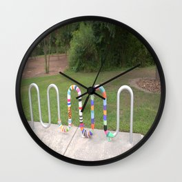 Knitted Worm Wall Clock