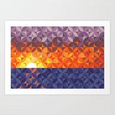 Kaleidoscope Sunset Art Print