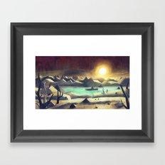 Solitude On Lake Cyanide Framed Art Print