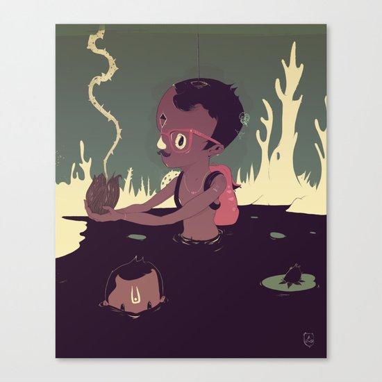 Black-water coconut Canvas Print