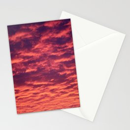 Pink Clouds At Sunrise Stationery Cards