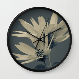 Sunflowers in the blue Wall Clock